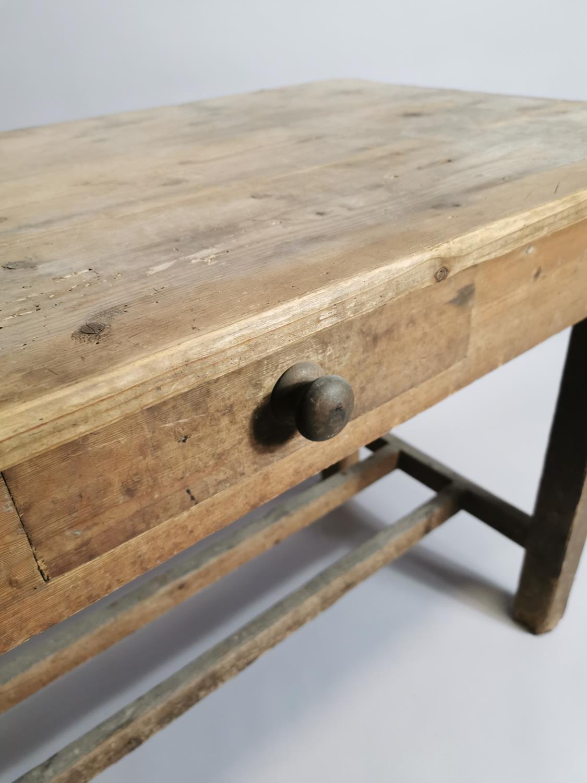 19th. Irish C. pine side table - Image 3 of 7