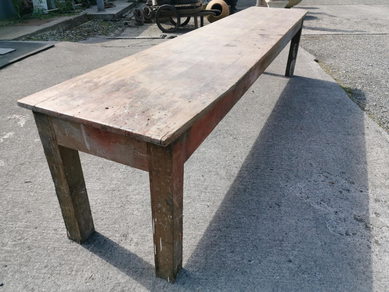 19th C. Irish pine table. - Image 8 of 8