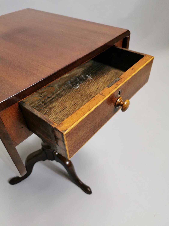 Georgian mahogany double drop leaf lamp table - Image 6 of 7