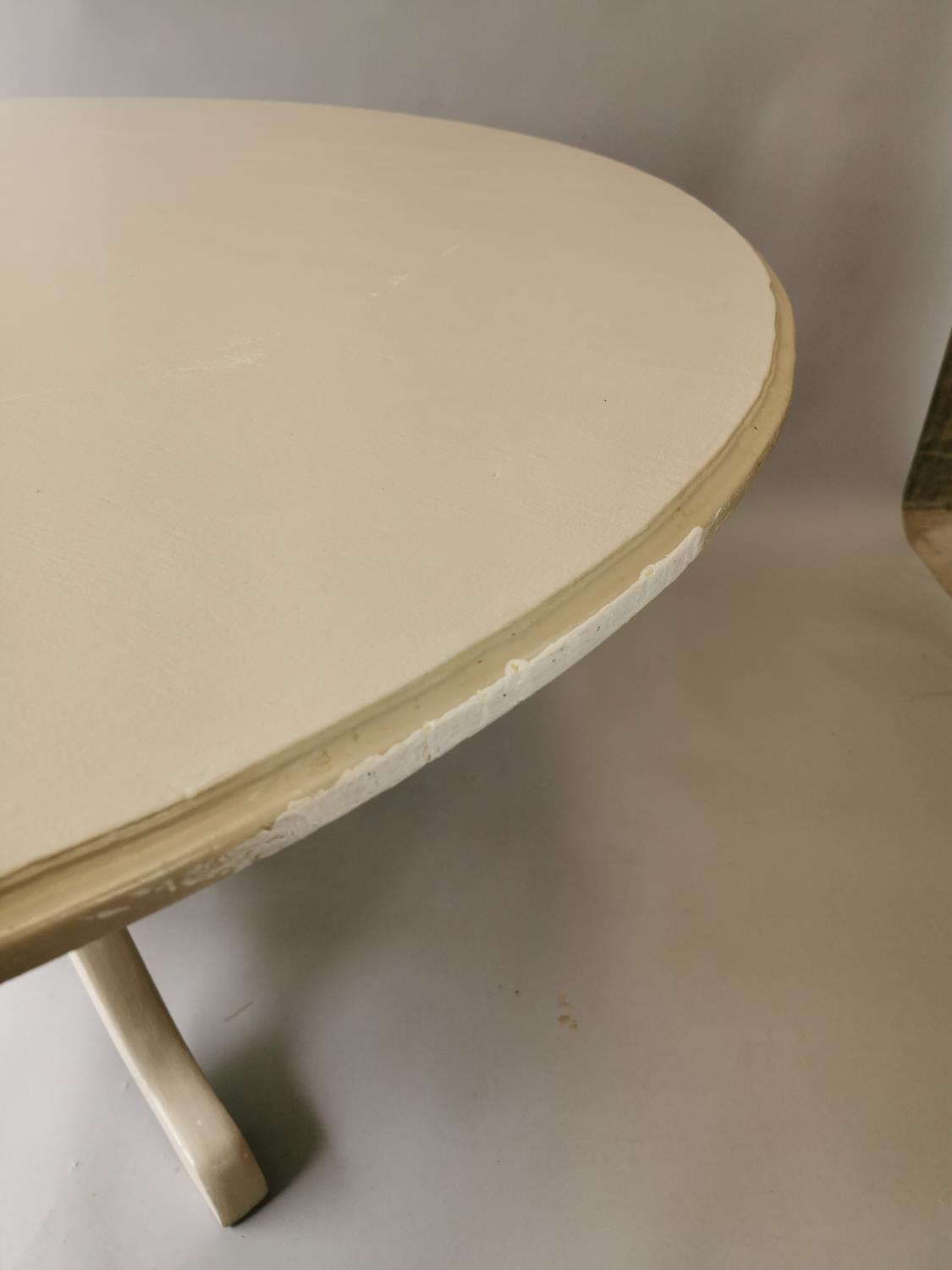 Painted breakfast table - Image 4 of 5