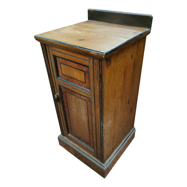 Edwardian mahogany bedside locker, - Image 2 of 2