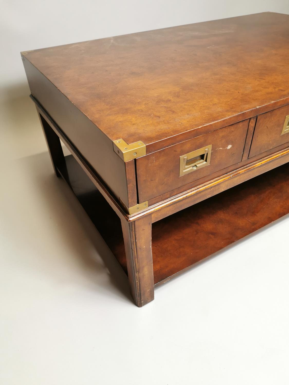 Good quality walnut coffee table - Image 2 of 7