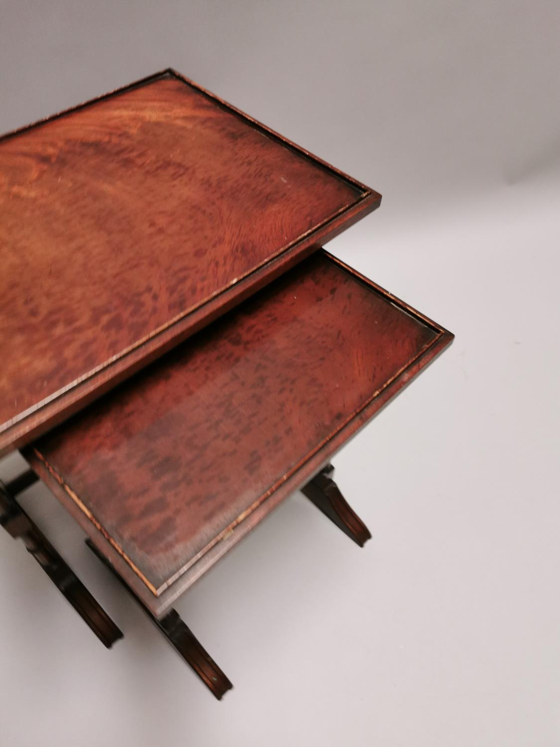 Nest of two mahogany tables - Image 2 of 5