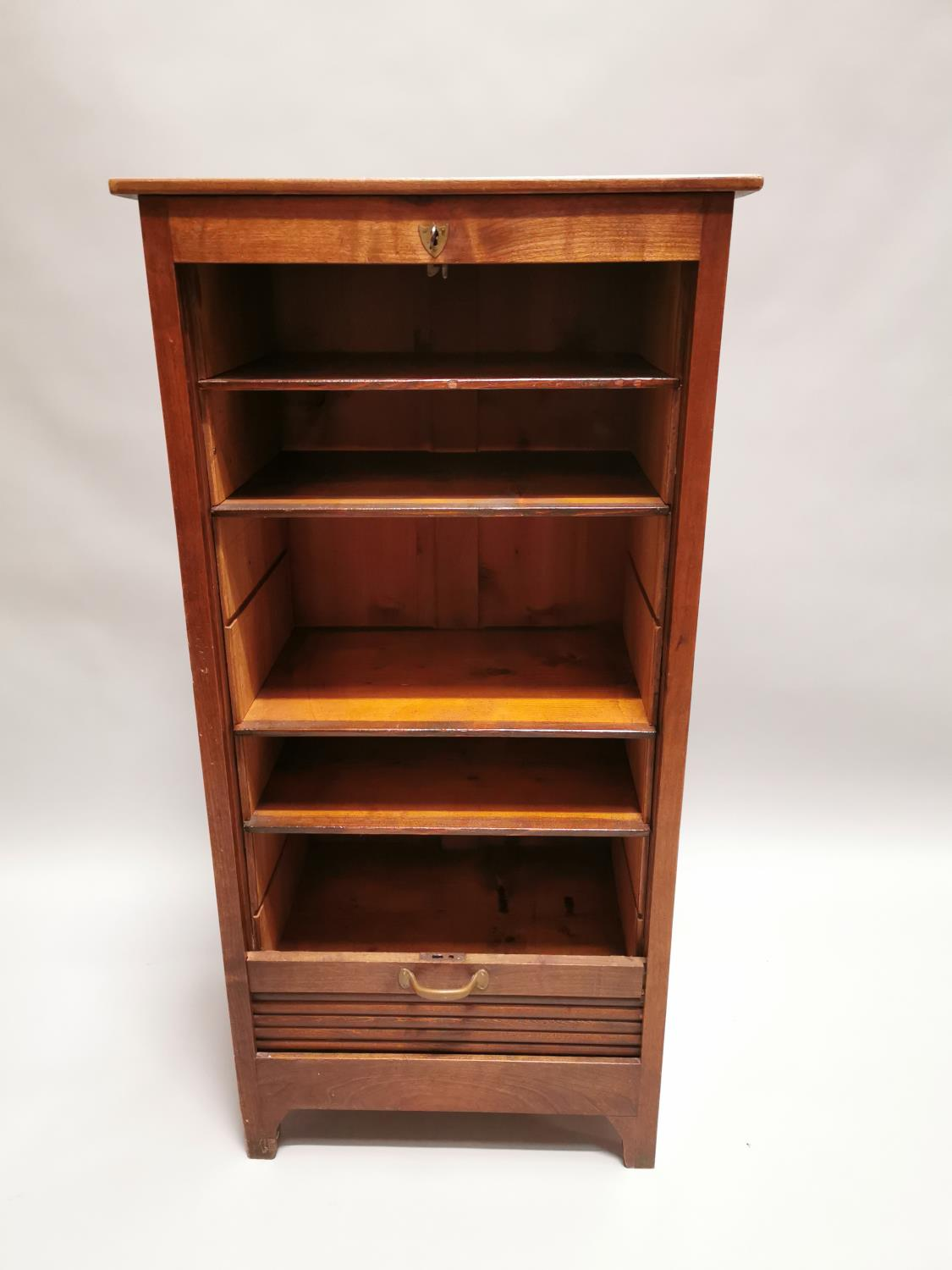 Early 20th. C. oak filing cabinet - Image 7 of 7
