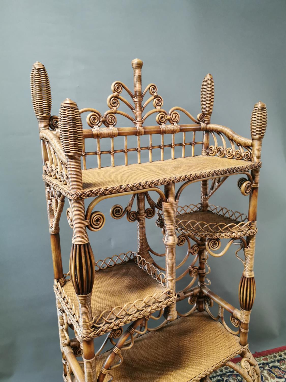 Decorative wicker whatnot. - Image 2 of 3
