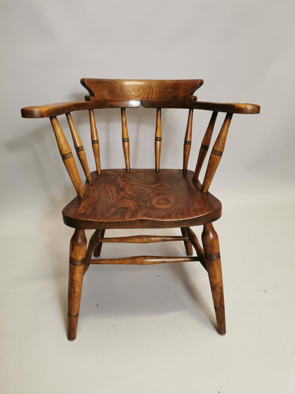 Early 20th C. Ash and elm smoker's bow