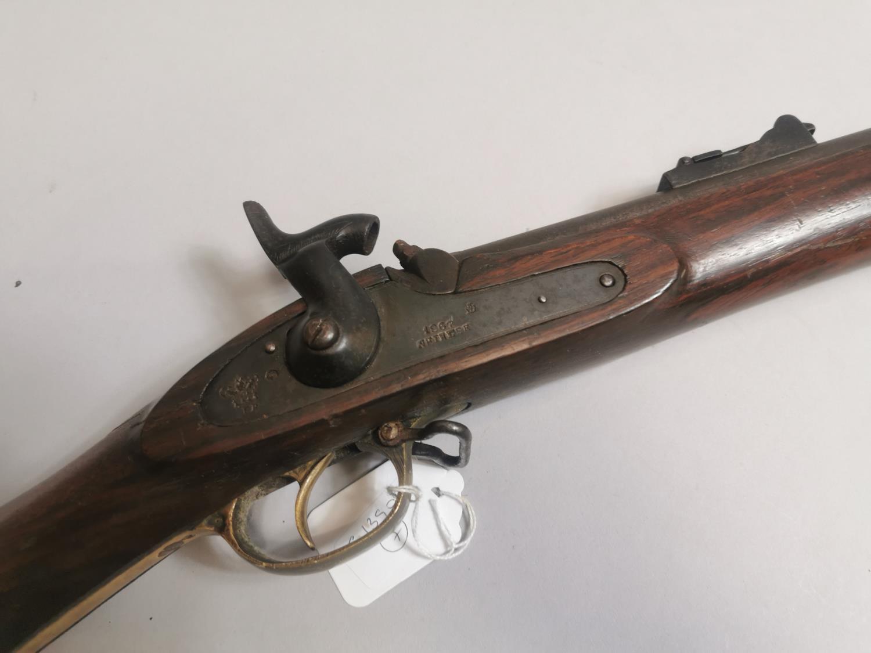 19th. C. percussion cap rifle. - Image 2 of 2