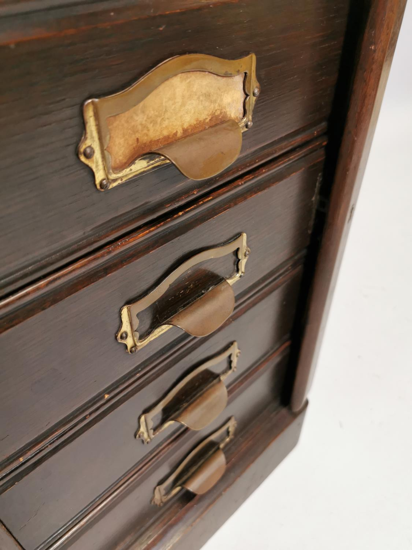 Art Deco oak filing cabinet - Image 2 of 7