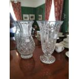 Waterford Crystal cut glass vase