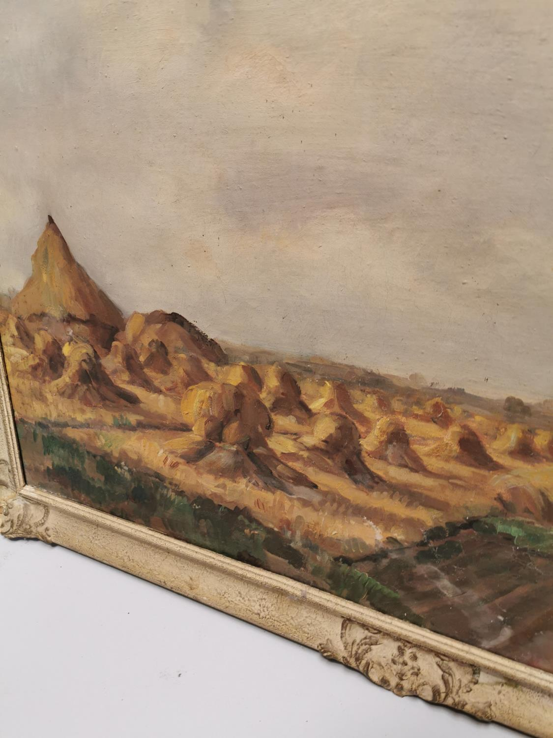 Pie Schmits The Hay Field Oil on Canvas - Image 4 of 5