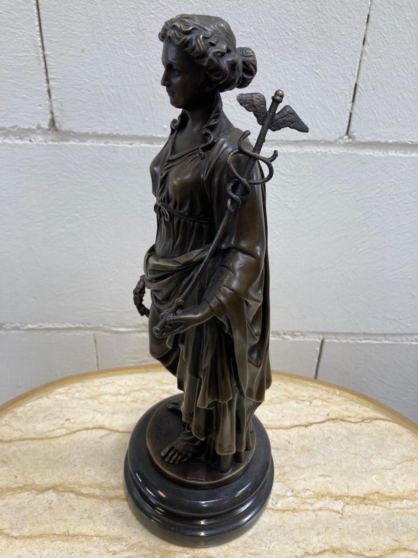 "Bronze Statue - Set of four ""Allegorical Figures"". - Image 2 of 12"