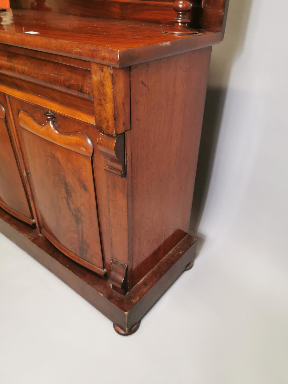 William IV carved mahogany side cabinet - Image 6 of 8