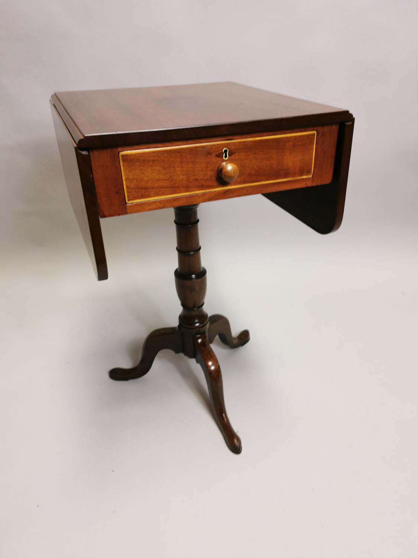 Georgian mahogany double drop leaf lamp table