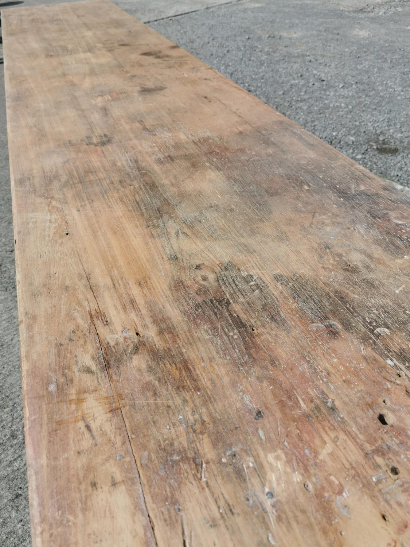 19th C. Irish pine table. - Image 2 of 8