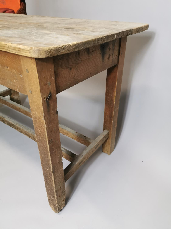 19th. Irish C. pine side table - Image 6 of 7