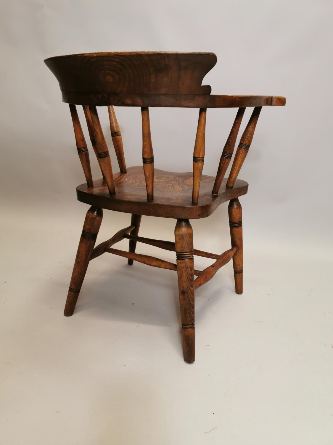 Early 20th C. Ash and elm smoker's bow - Image 6 of 7
