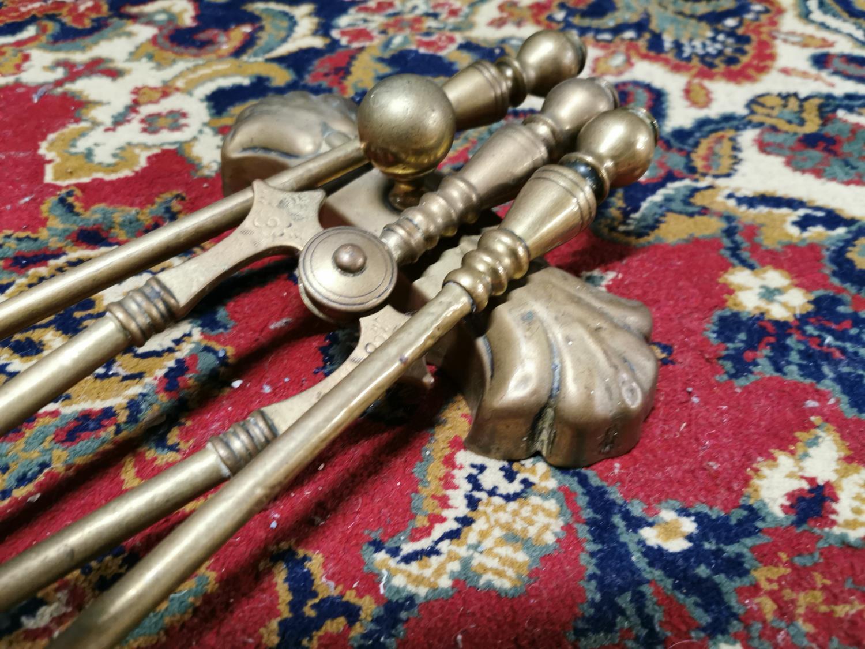 Brass companion set - Image 2 of 2