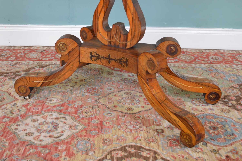 Regency rosewood card table - Image 3 of 4
