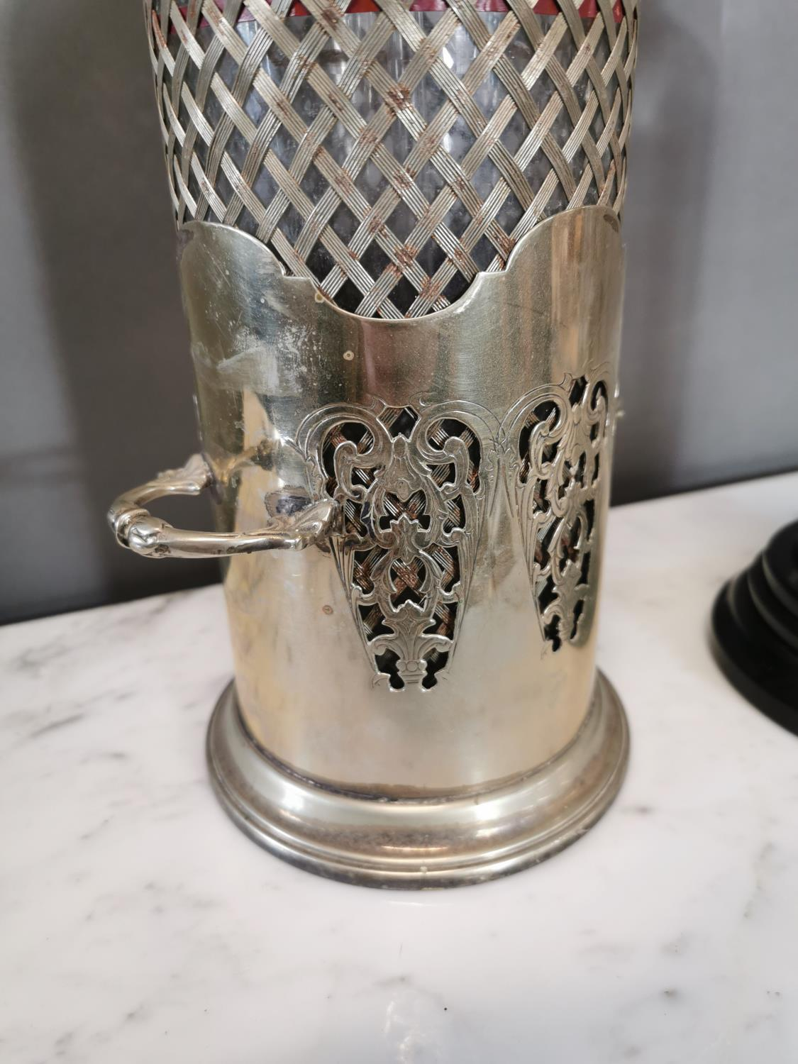 Early 20th. C. silverplated syphon - Image 2 of 3