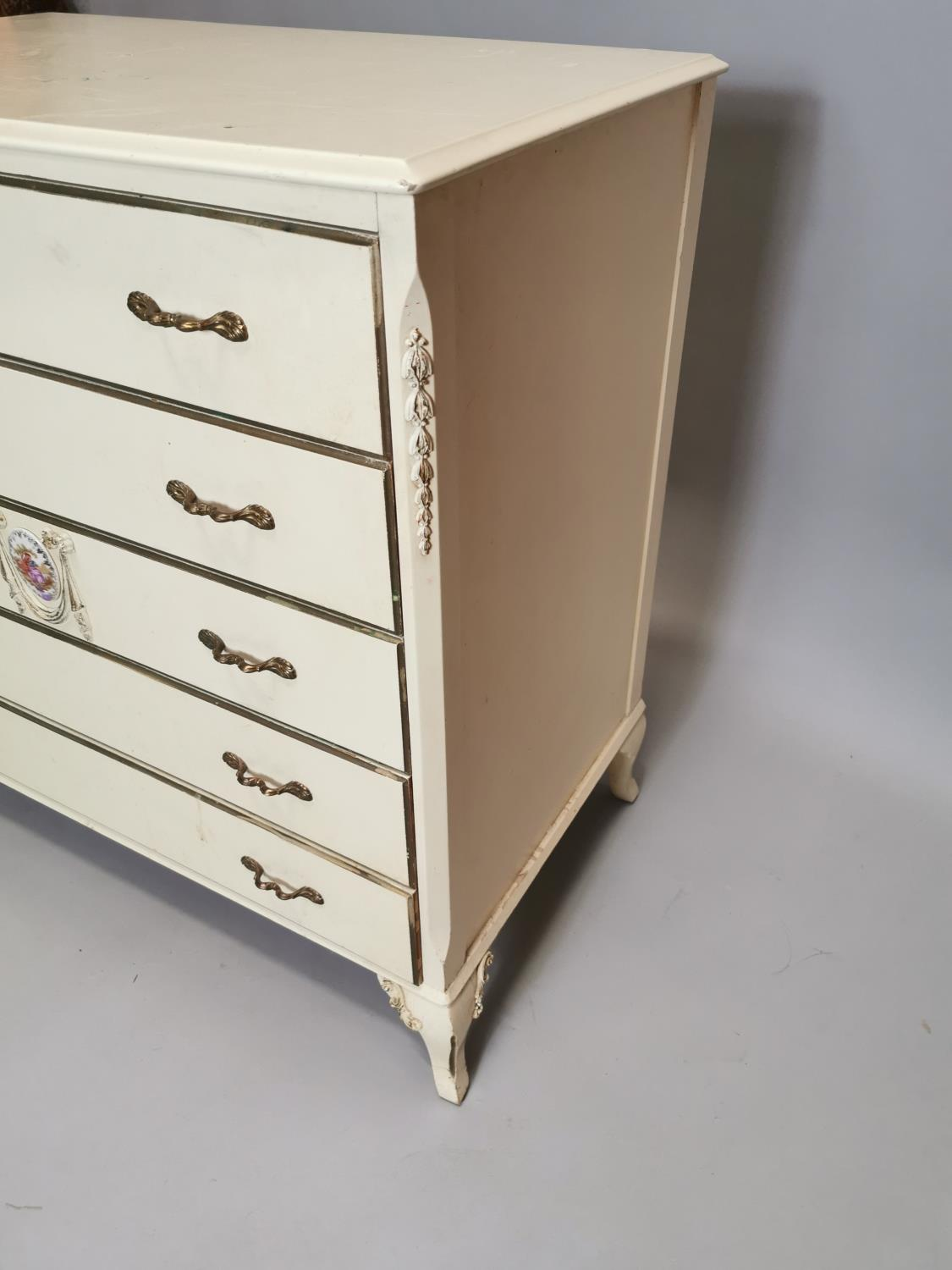 Painted chest with five long drawers - Image 7 of 7