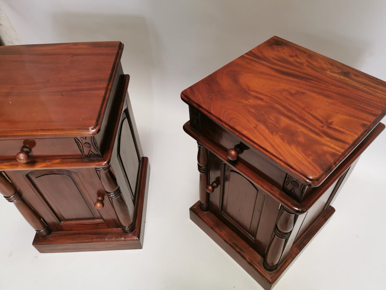Pair of mahogany bedside lockers - Image 7 of 7