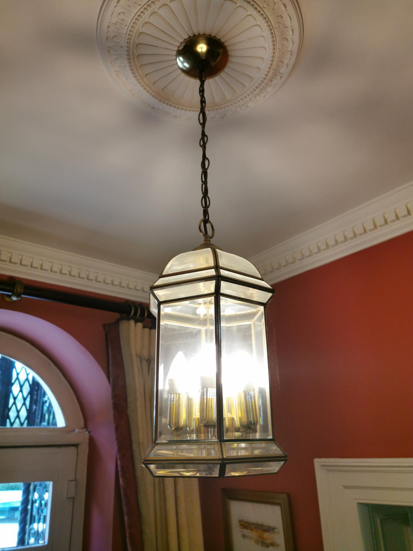 Brass and Perspex hall lantern