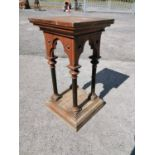 Pair of 19th C. statue stands.