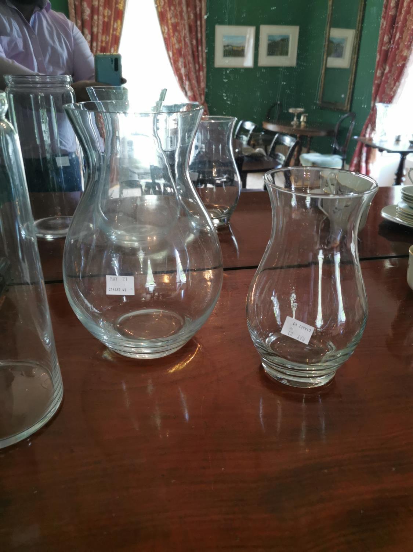 Three glass vases. - Image 2 of 2