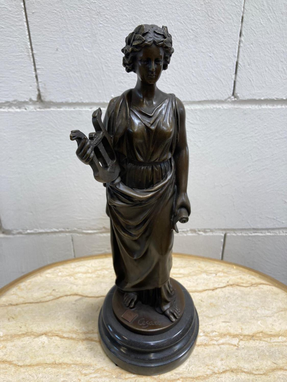 "Bronze Statue - Set of four ""Allegorical Figures"". - Image 11 of 12"