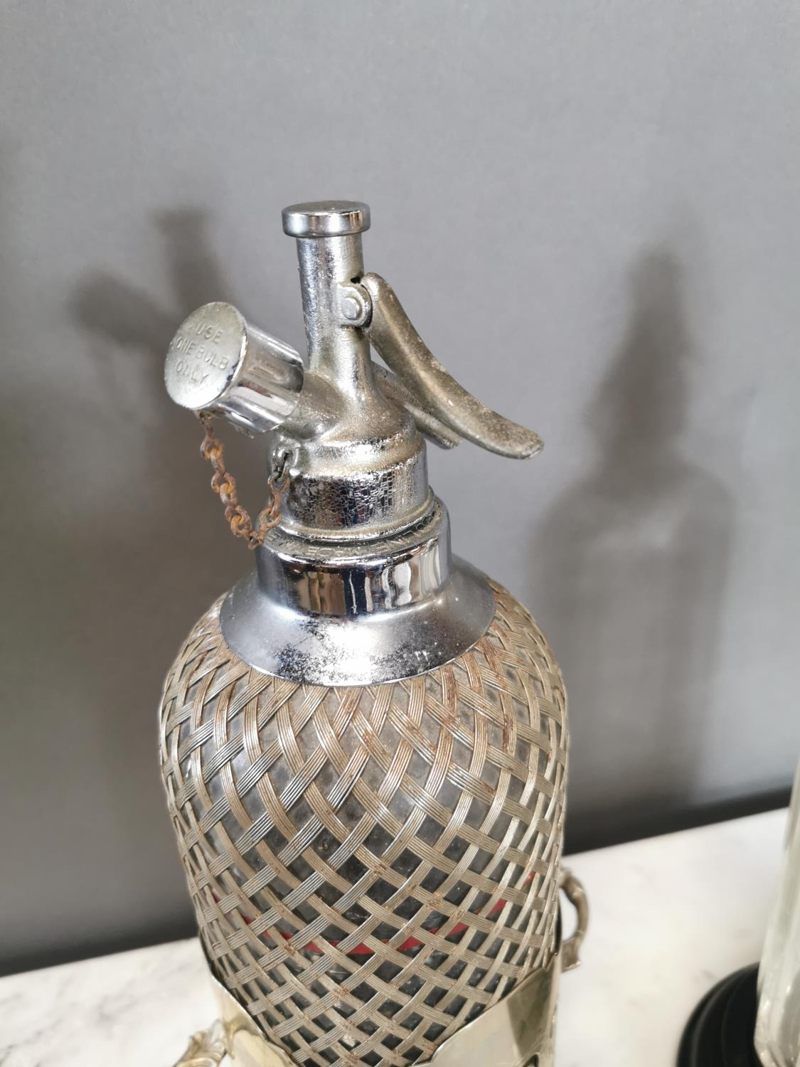 Early 20th. C. silverplated syphon - Image 3 of 3