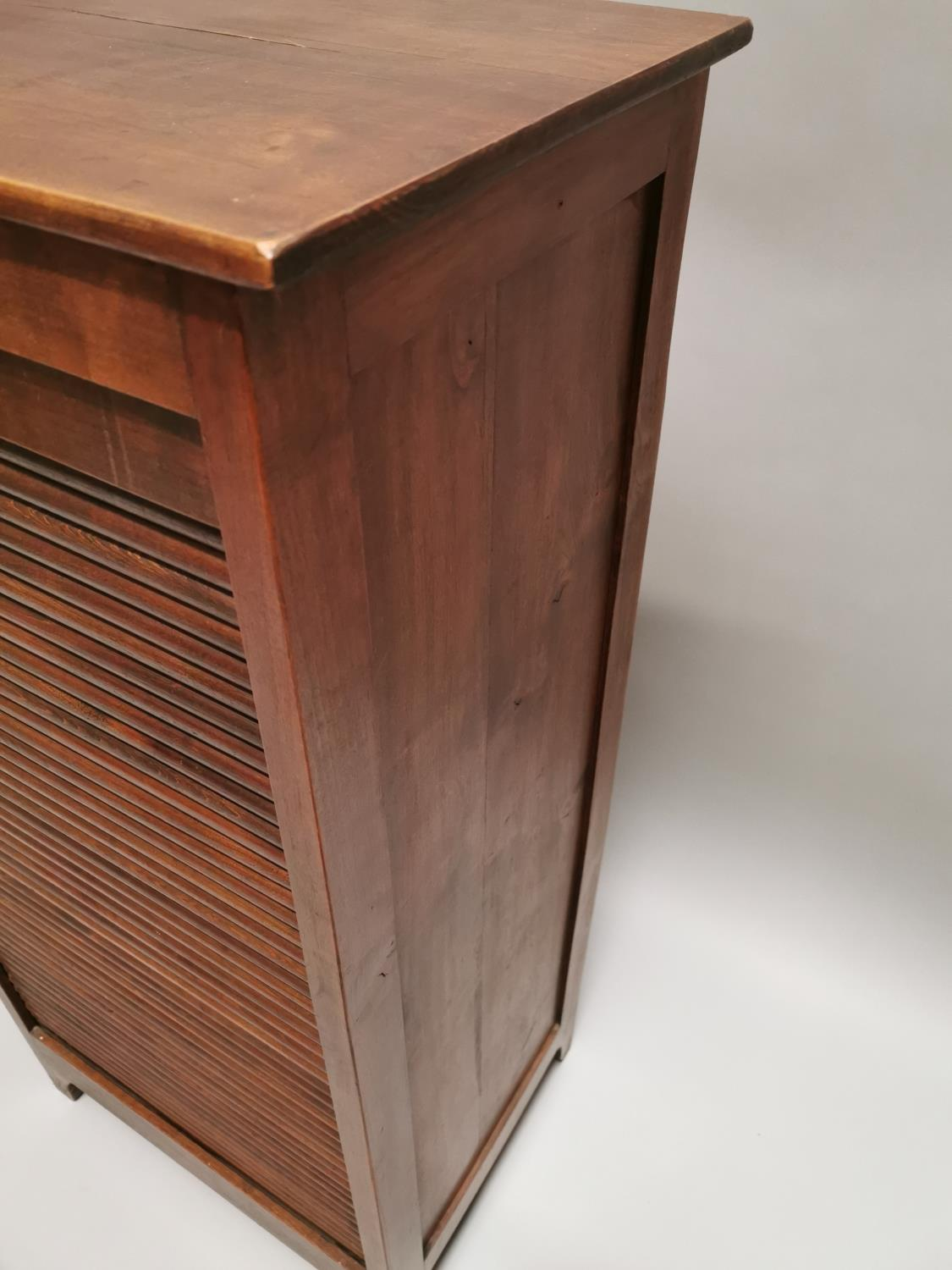 Early 20th. C. oak filing cabinet - Image 3 of 7