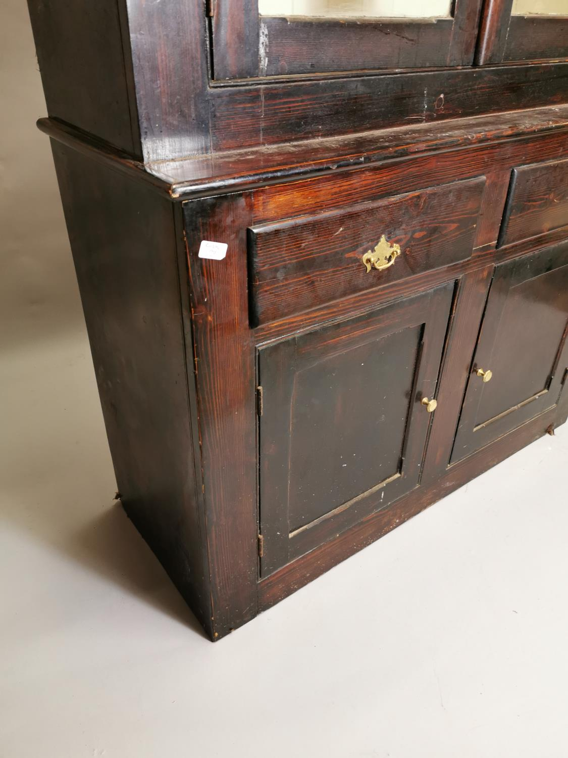 19th.C. painted cabinet - Image 3 of 8