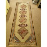 Persian hand knotted wool runner