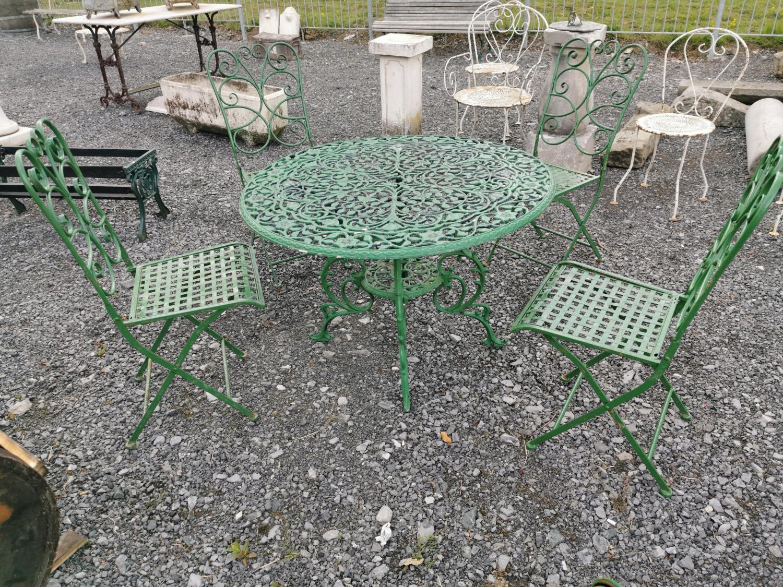 Cast alloy five piece garden set
