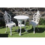 Three piece cast iron garden suite