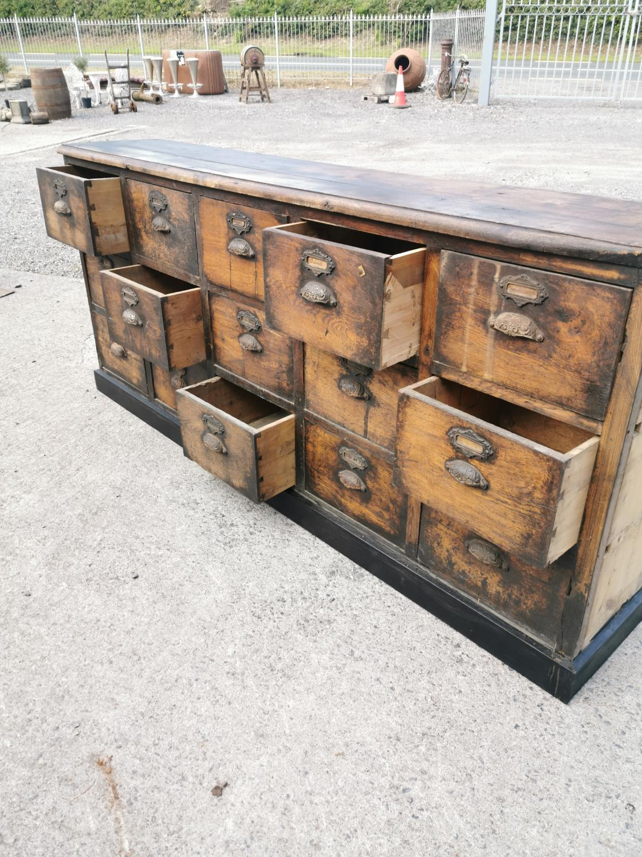 19th C. oak bank of drawers. - Image 6 of 8