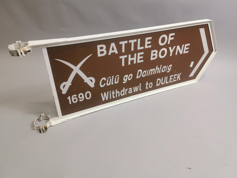 Battle Of The Boyne Withdrawl To Duleek aluminium finger post sign