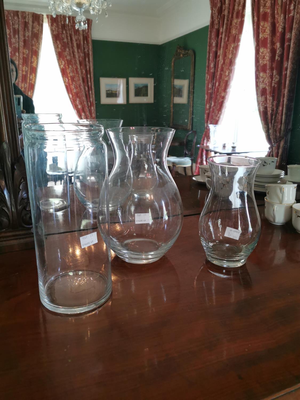 Three glass vases.