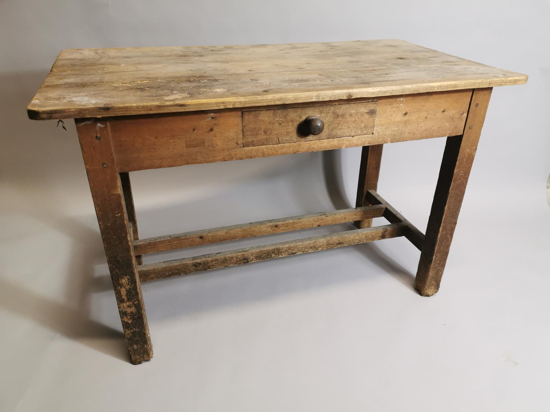 19th. Irish C. pine side table