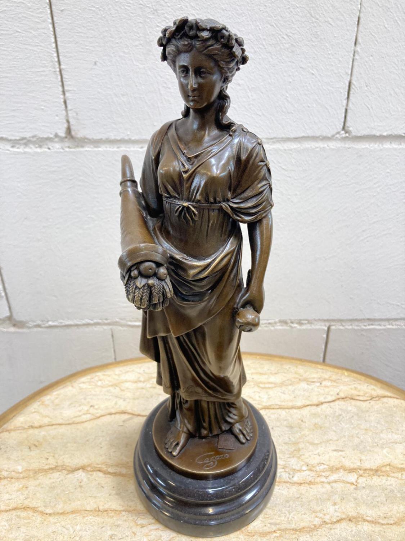 "Bronze Statue - Set of four ""Allegorical Figures"". - Image 8 of 12"