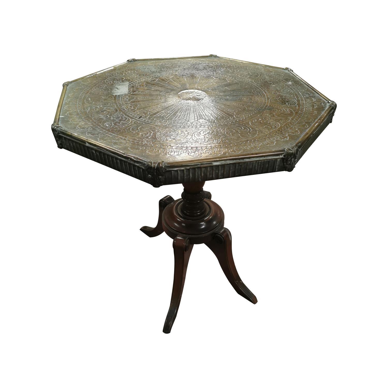 Mahogany centre table,