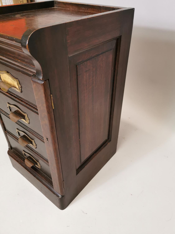 Art Deco oak filing cabinet - Image 6 of 7