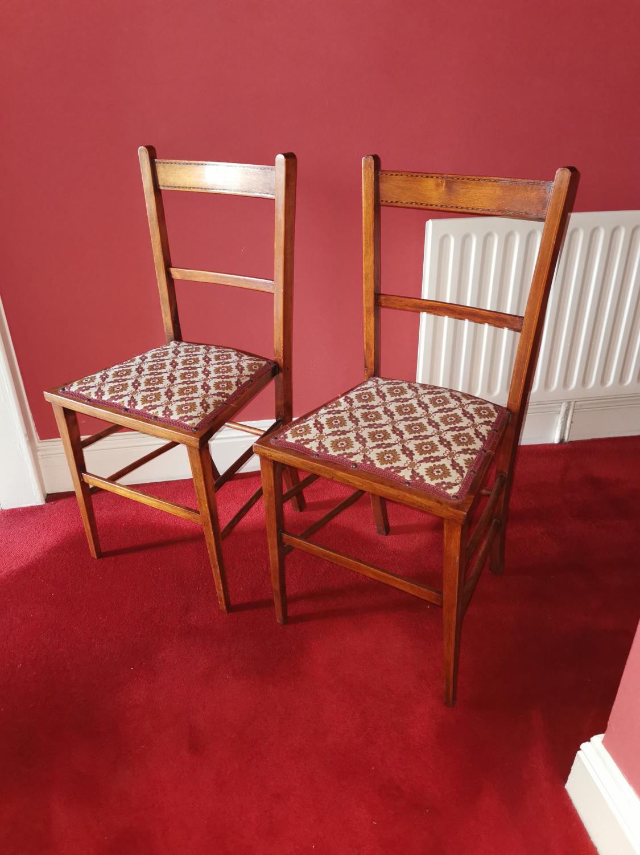 Pair of Edwardian mahogany bedroom chairs