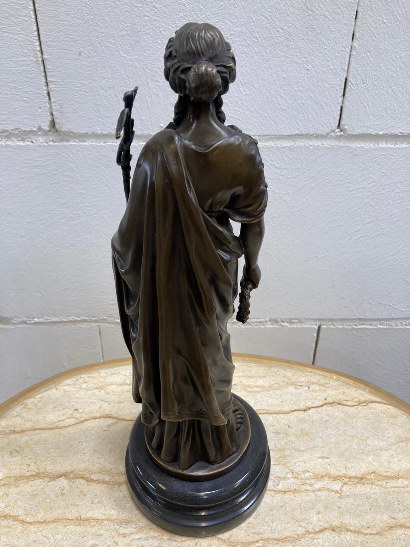"Bronze Statue - Set of four ""Allegorical Figures"". - Image 6 of 12"
