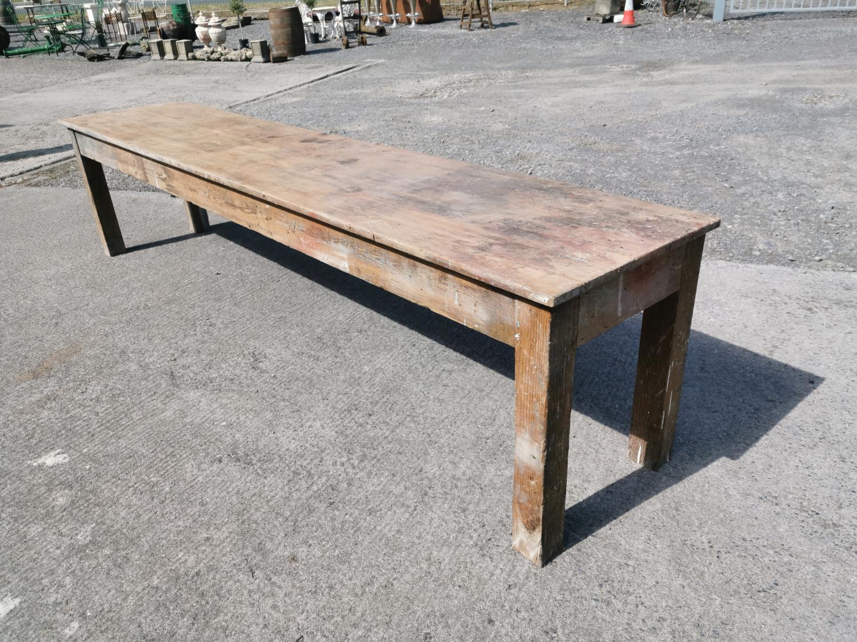 19th C. Irish pine table.