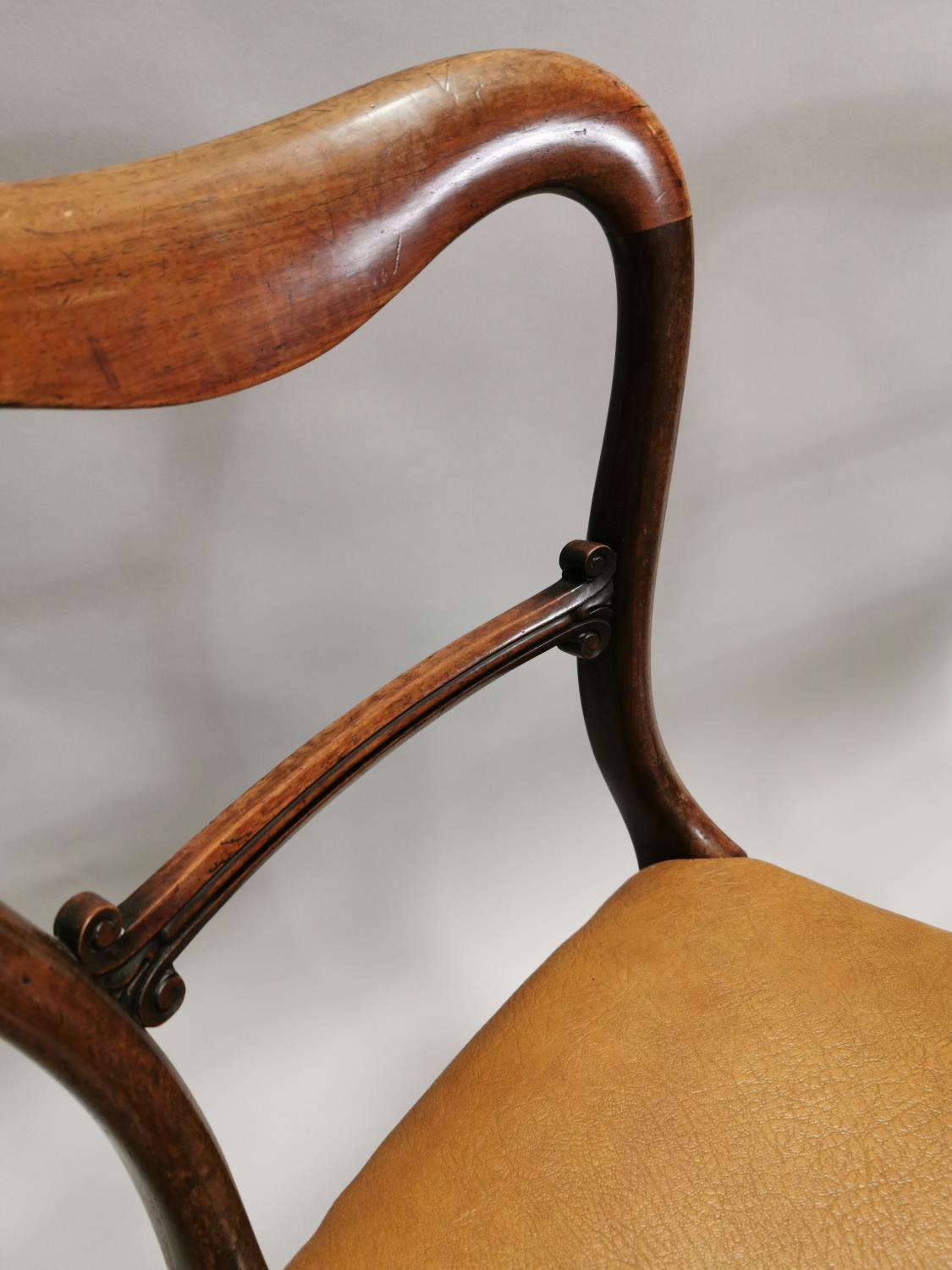 Pair of William IV rosewood side chairs - Image 5 of 7