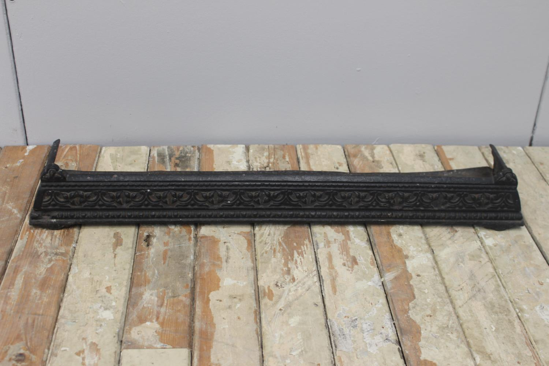 Decorative 19th. C. cast iron fender.