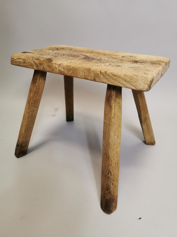 19th. C. Irish pine milking stool