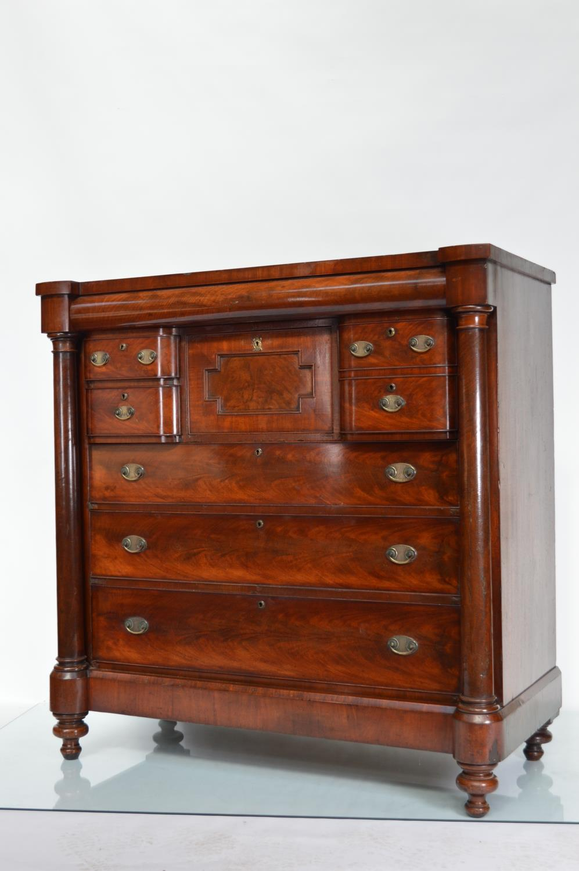 19th. C. mahogany chest