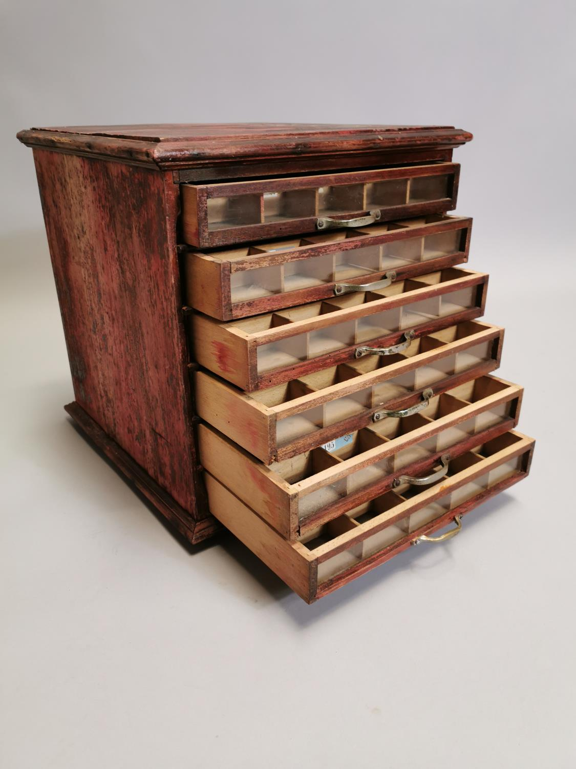 Painted pine bank of drawers - Image 4 of 9